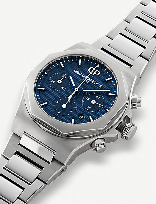 GIRARD-PERREGAUX 810201143111A Laureato stainless steel chronograph watch