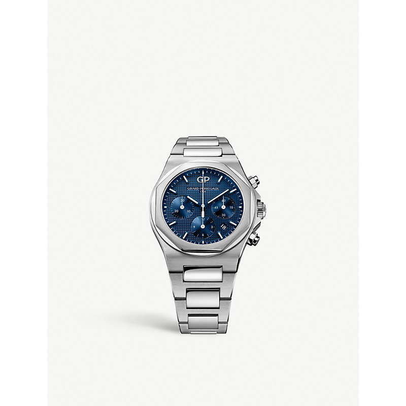 GIRARD-PERREGAUX | 810201143111A Laureato Stainless Steel Chronograph Watch | Goxip