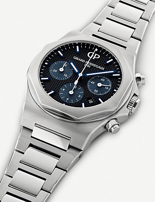 GIRARD-PERREGAUX 81020-11-631-11a Laureato stainless steel chronograph watch