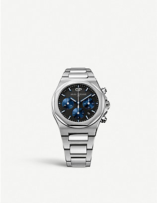 GIRARD-PERREGAUX: 81020-11-631-11a Laureato stainless steel chronograph watch