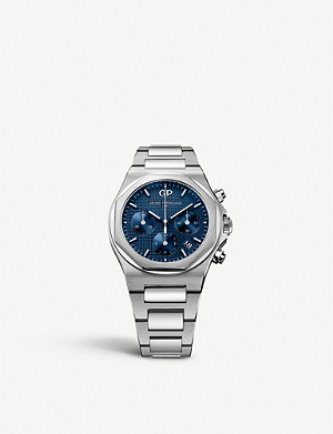 GIRARD-PERREGAUX 810401143111A Laureato stainless steel watch