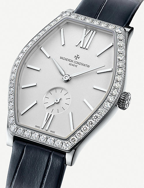 VACHERON CONSTANTIN 81515/000G-9891 Malte 18ct white gold, diamond and leather