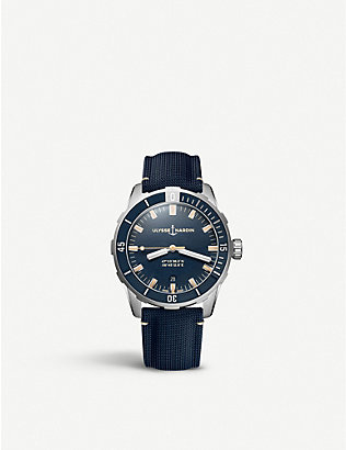 ULYSSE NARDIN: Diver stainless steel and fabric watch