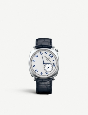 VACHERON CONSTANTIN 82035/000P-B168 Historiques platinum and alligator leather watch