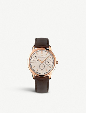 VACHERON CONSTANTIN 83020/000R-9909 Traditionnelle 18ct rose gold, and alligator leather watch