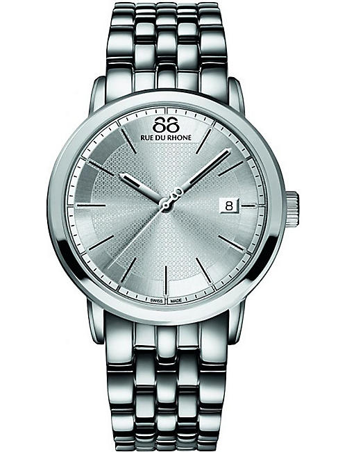 88 RUE DU RHONE 87WA130016 stainless steel quartz watch