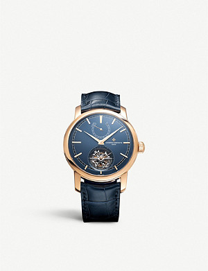 VACHERON CONSTANTIN 8900/0000R-B514 Traditionnelle Blue Edition 18ct rose-gold and leather watch