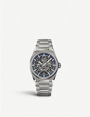 ZENITH: 95.9000.670/78.M9000 Defy Classic titanium automatic skeleton watch