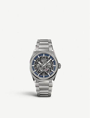 ZENITH 95.9000.670/78.M9000 Defy Classic titanium automatic skeleton watch