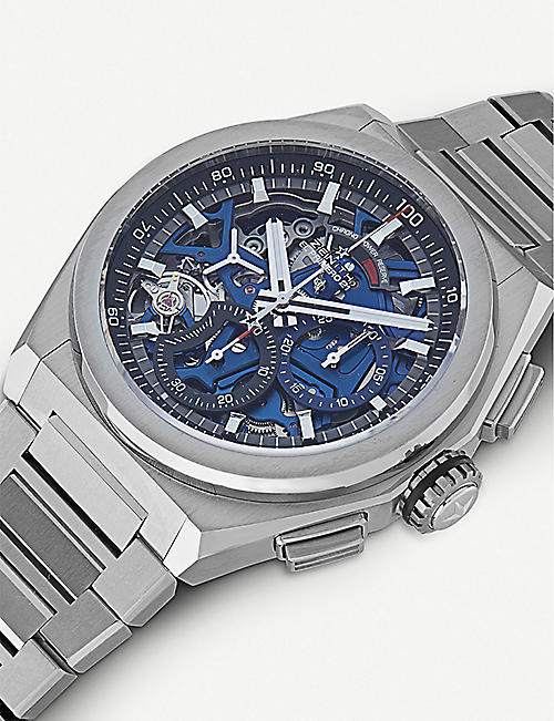 ZENITH 95.9002.9004/78.M9000 Zenith Defy EI Primero 21 brushed titanium automatic watch