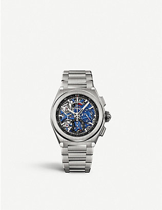 ZENITH: 95.9002.9004/78.M9000 Zenith Defy EI Primero 21 brushed titanium automatic watch