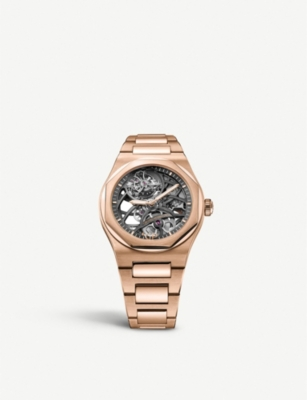 GIRARD-PERREGAUX 991105200052A Laureato rose-gold watch