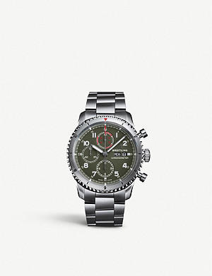 BREITLING A133161A1L1A1 Aviator 8 Chronograph 43 Curtiss Warhawk stainless-steel watch