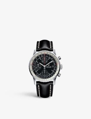 BREITLING A13324121B1X1 Navitimer 1 Chronograph steel and leather watch