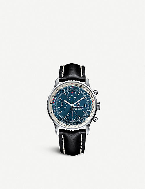 BREITLING A13324121C1X1 Navitimer 1 Chronograph steel and leather watch
