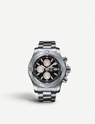A1337111/C871 168 A Super Avenger Ii Stainless Steel Automatic Chronograph Watch by Breitling