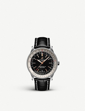 BREITLING A17326211B1P2 Navitimer steel and leather watch