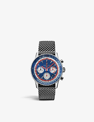 BREITLING AB012/12B1/C1A1 Pan Am Navitimer 1 B01 Pan Am chronograph stainless steel watch