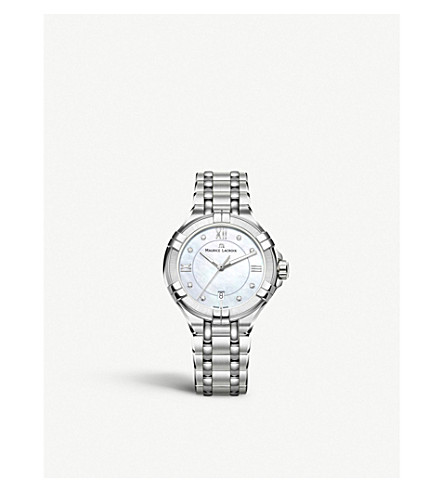 MAURICE LACROIX Ai1004-Ss002-170-1 Aikon Stainless Steel, Mother Of Pearl And Diamond Watch