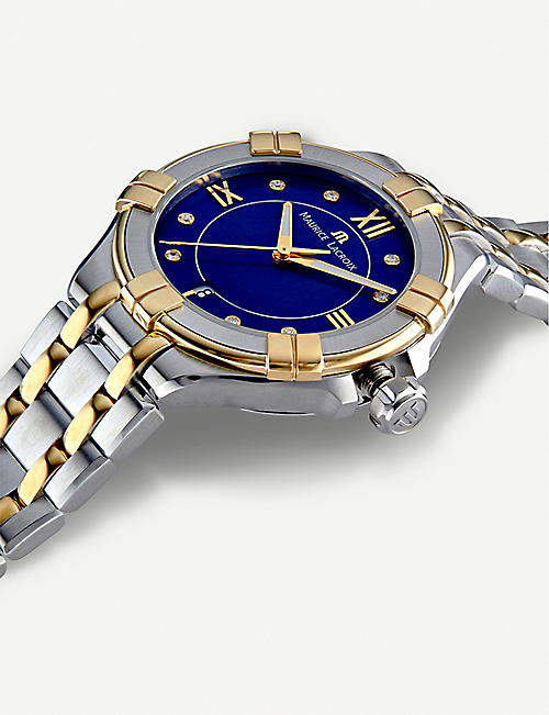 MAURICE LACROIX AI1006-PVY13-450-1 Aikon gold-plated, stainless steel and diamond watch