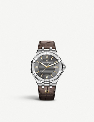 MAURICE LACROIX AI1008-SS001-333-1 Aikon stainless steel and leather watch