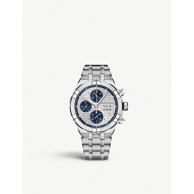 MAURICE LACROIX Ai6038-Ss002-131-1 Aikon Chrono Stainless Steel Chronograph Watch in Silver