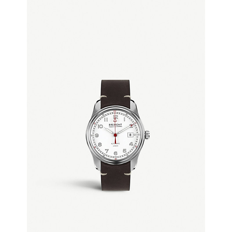 BREMONT Aircomach1Wh Airco Mach 1Stainless Steel And Leather Strap Watch