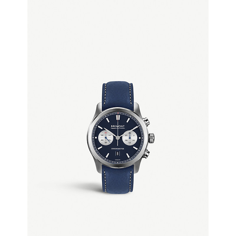 BREMONT Alt1-C/Bl Hardened Stainless Steel And Nubuck Chronograph Watch