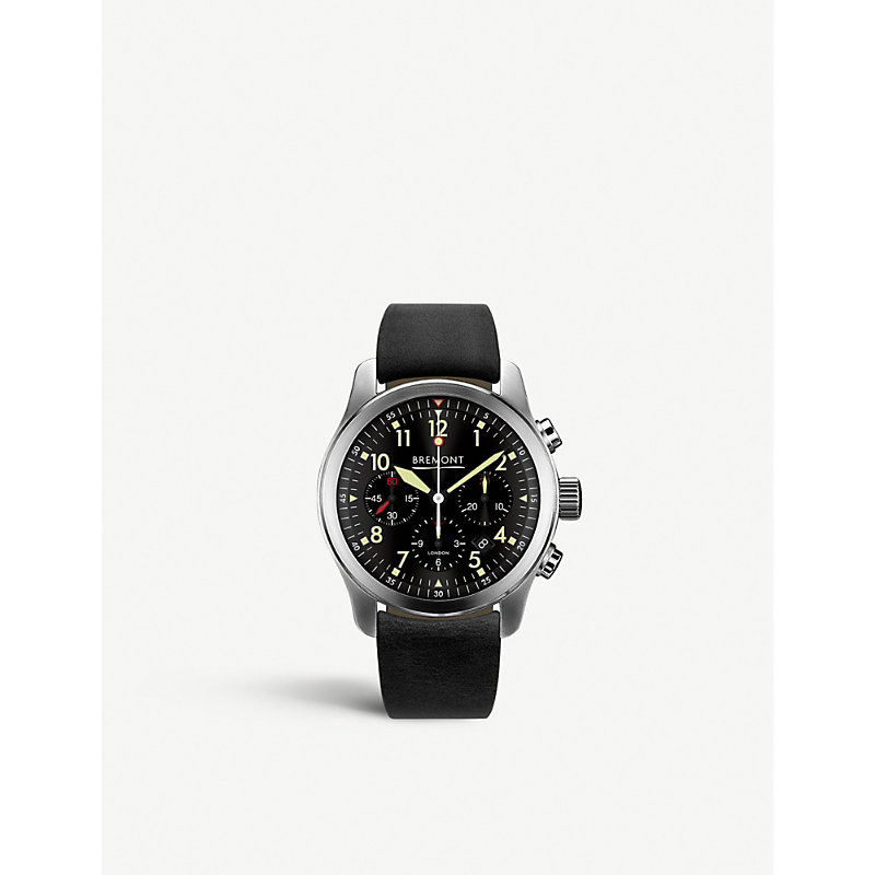 BREMONT Alt1-P2 Stainless Steel And Leather