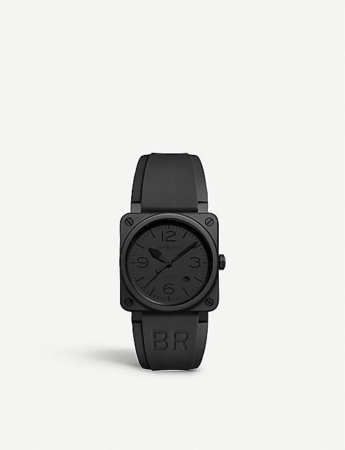 BELL & ROSS: BR0392 Phantom ceramic and rubber watch