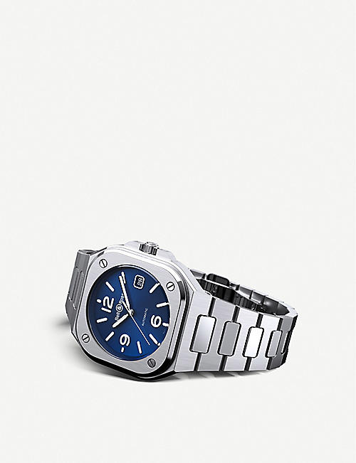 BELL & ROSS BR05A-BLU-ST/SST stainless steel automatic watch