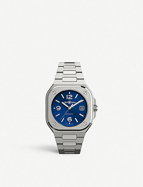 BELL & ROSS: BR05A-BLU-ST/SST stainless steel automatic watch