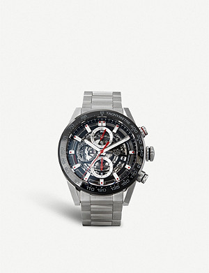 TAG HEUER CAR201V.BA0714 Carrera stainless steel and ceramic chronograph watch