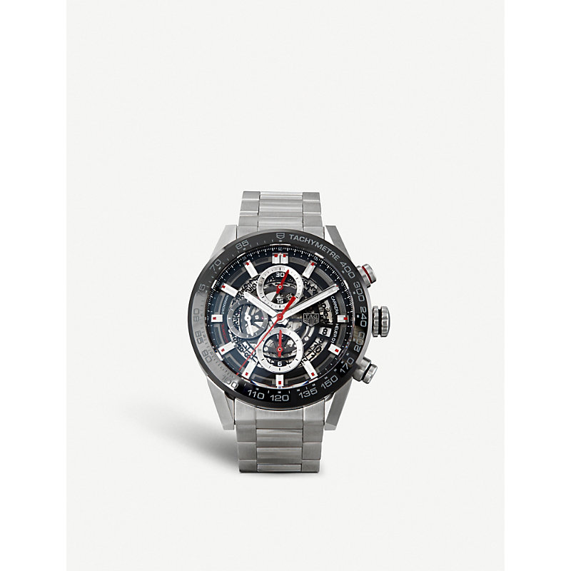 TAG HEUER | CAR201V.BA0766 Carrera Stainless Steel And Ceramic Chronograph Watch | Goxip