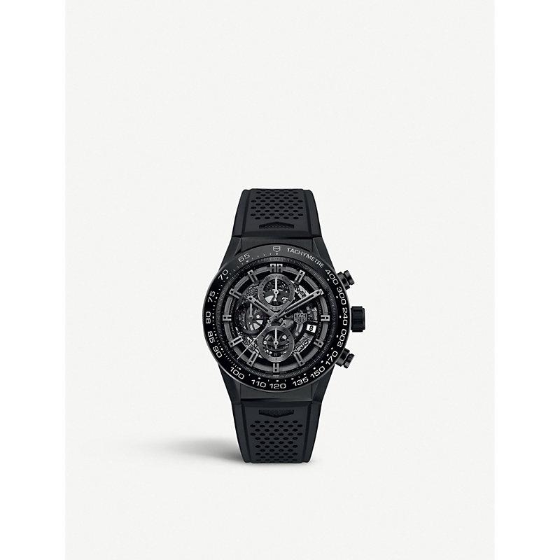 TAG HEUER | CAR2A91.FT6071 Carrera Titanium Automatic Chronograph Watch | Goxip