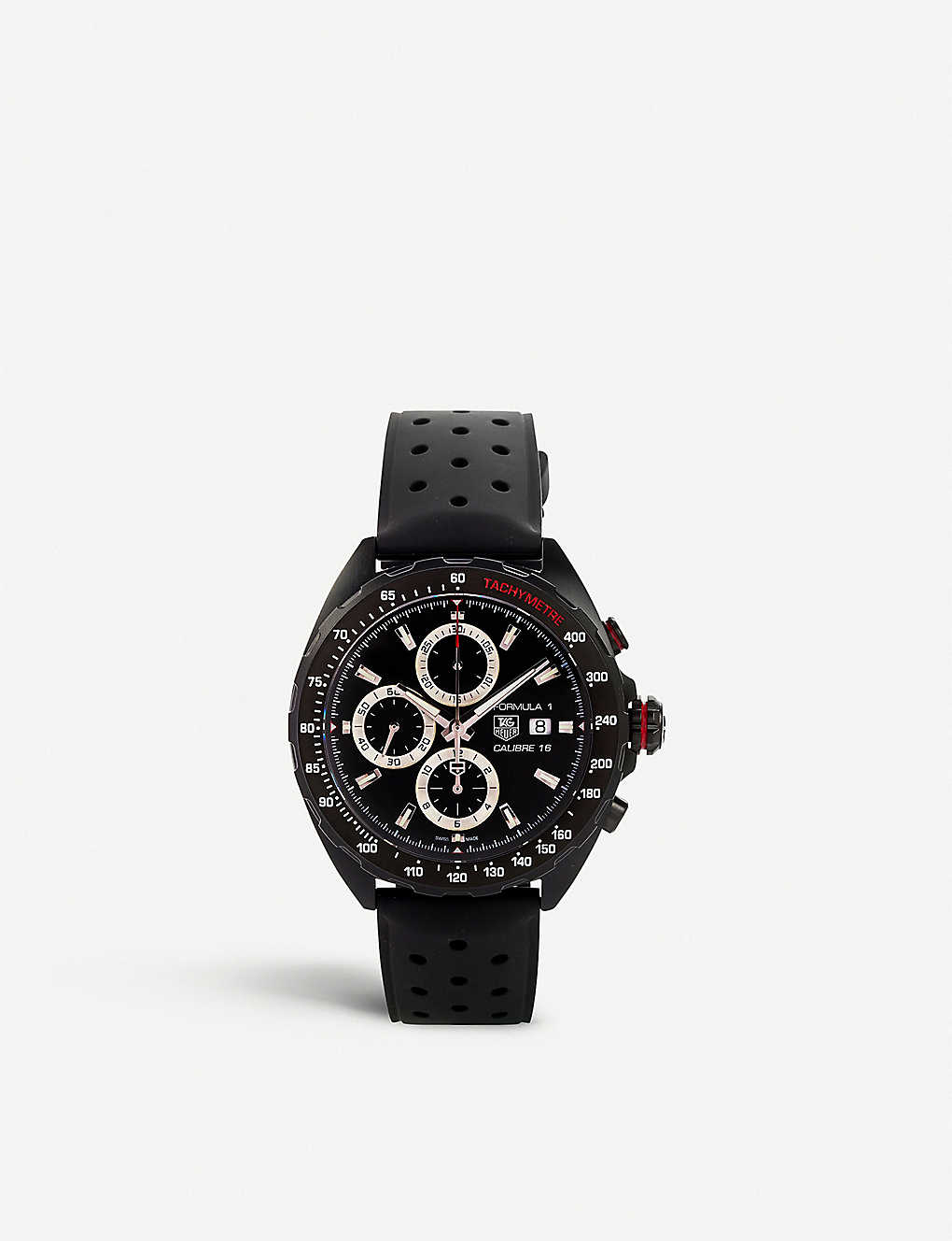 TAG HEUER: Caz2011.ft8024 Formula 1 steel and rubber watch