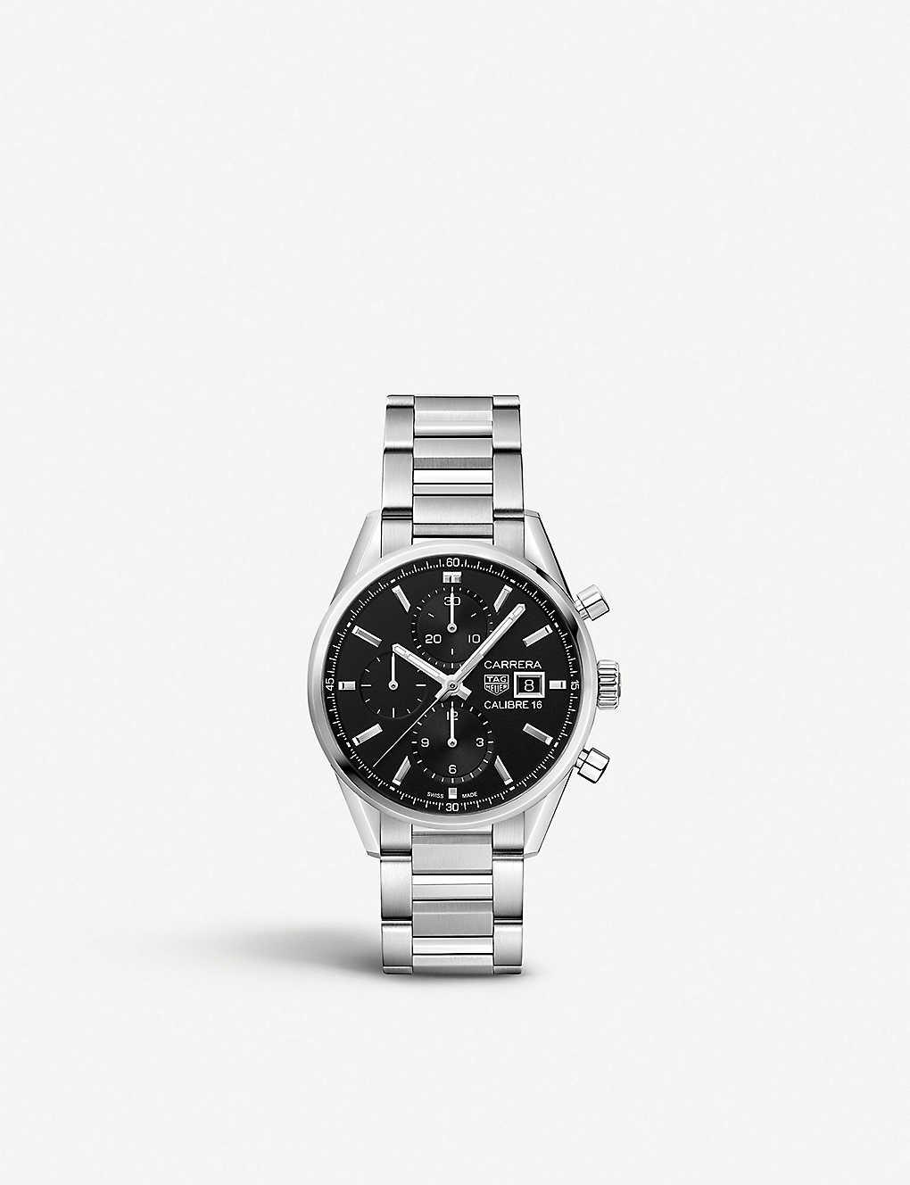 d179b7249bc TAG HEUER - Carrera Calibre 16 steel chronograph watch   Selfridges.com