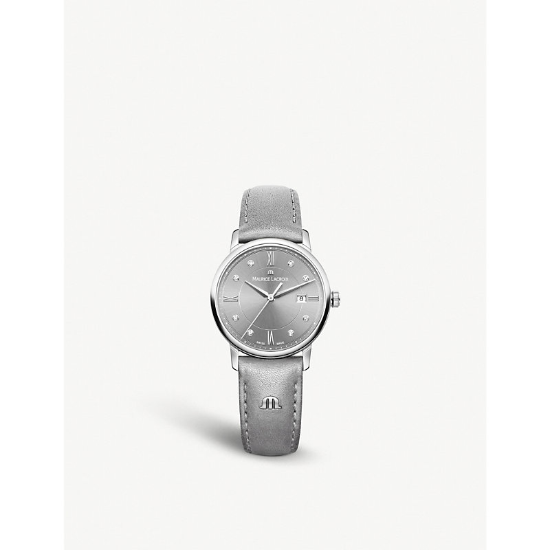 MAURICE LACROIX El1094-Ss001-250-1 Eliros Date Stainless Steel Watch in Silver