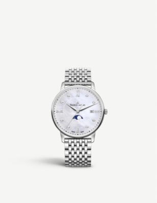 MAURICE LACROIX EL1096-SS002-170-1 Eliros Moonphase mother-of-pearl, diamond and steel watch