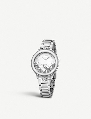 FENDI Fendi Timepieces F711024000C0 Run Away stainless steel watch