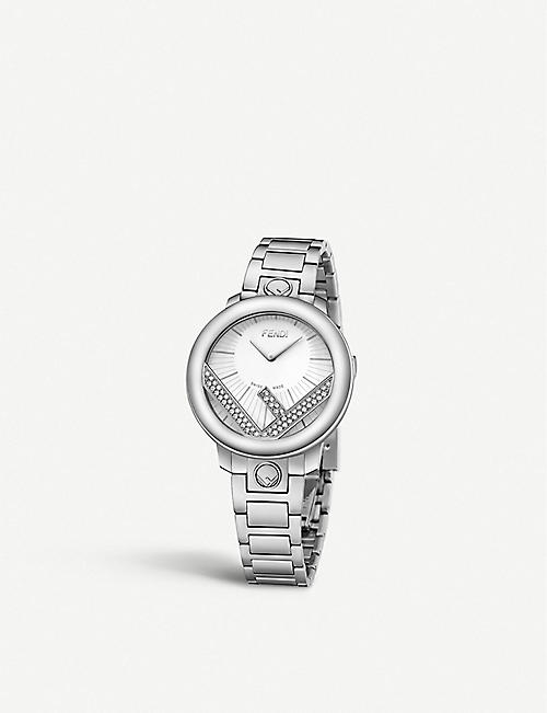 FENDI: Fendi Timepieces F711024000C0 Run Away stainless steel watch