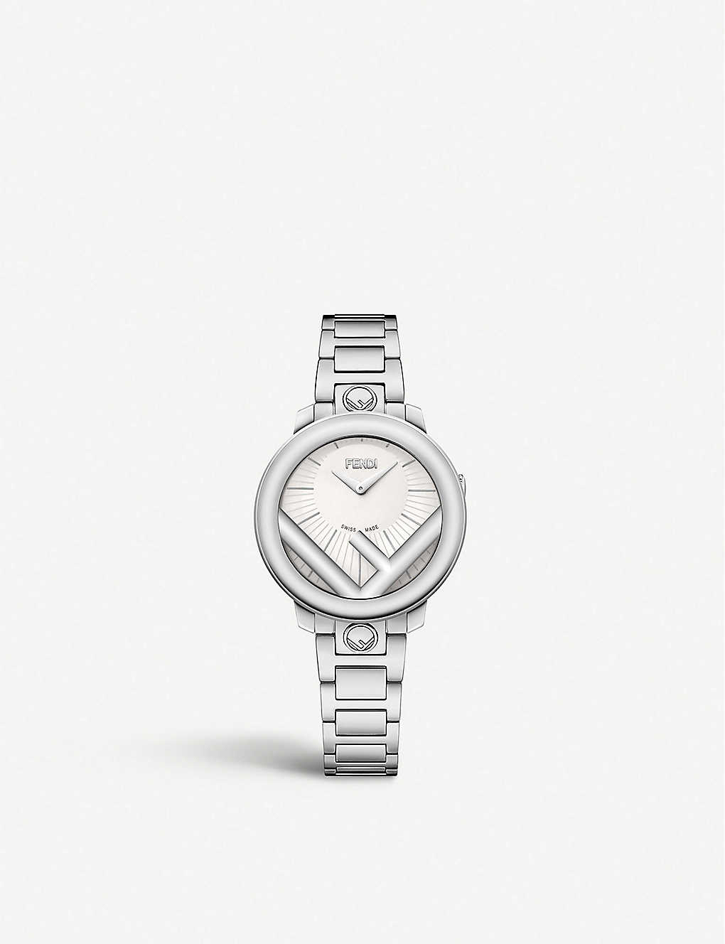 FENDI: Fendi Timepieces F711024000 Run Away stainless steel watch