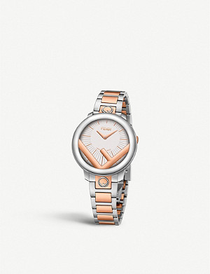 FENDI Fendi Timepieces F711224000 Run Away stainless steel and rose-gold watch