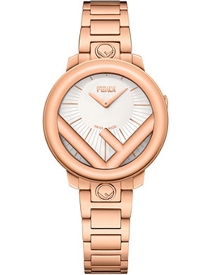FENDI Fendi Timepieces F711524000 Run Away rose-gold watch