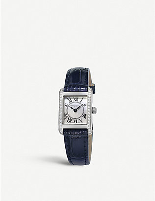 FREDERIQUE CONSTANT: FC200MPWCD16 Carree diamond and leather watch