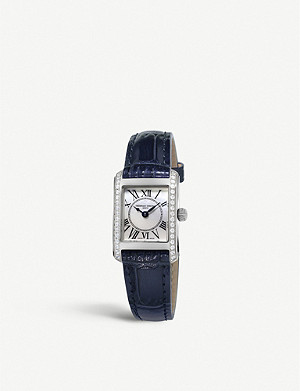 FREDERIQUE CONSTANT FC200MPWCD16 Carree diamond and leather watch
