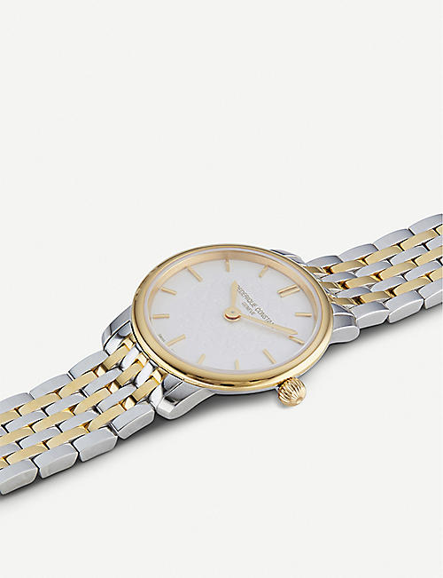 FREDERIQUE CONSTANT FC-200WHS3B-2 Slimline gold PVD and stainless steel watch