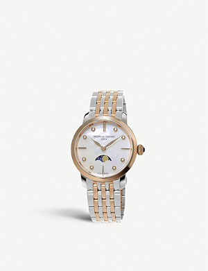 FREDERIQUE CONSTANT FC-206MPWD1S2B Slimline Moonphase mother-of-pearl and diamond watch