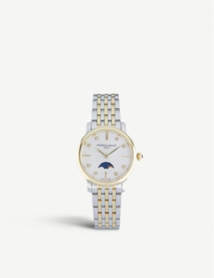 Frederique Constant FC-206MPWD1S3B SLIMLINE MOONPHASE MANUFACTURE STAINLESS STEEL WATCH