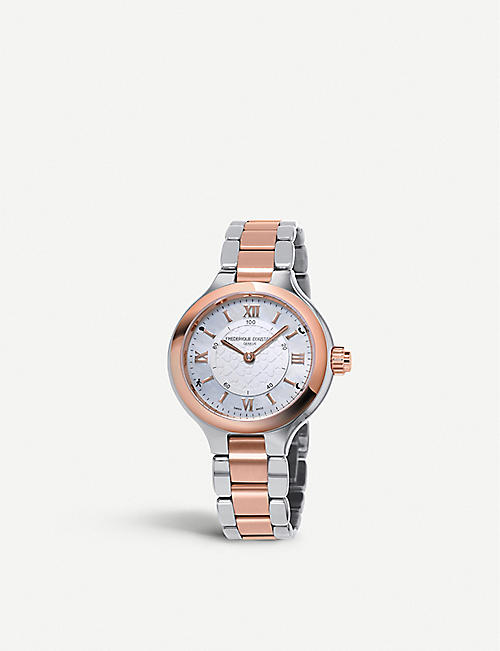 FREDERIQUE CONSTANT FC-281WH3ER2B Constant Horological rose gold-plated stainless steel Smartwatch